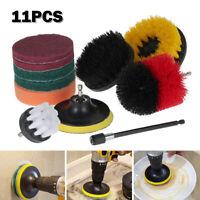 11X Drill Brush Set accessoires électriques Nettoyeurs tapis nettoyage pr SH