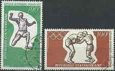 Timbres Sports JO Boxe Athlétisme Centrafrique o lot 18385