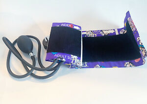 Prestige Medical Premium Adult Sphygmomanometer, Purple Berry Boop w/ Zip Pouch
