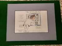 """""""The Radiologist"""" Thayer Cartoon Art Signed 78/450 Limited Edition Matted 11X14"""