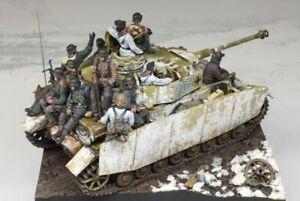 1/35 Resin Figure Model Kit German Soldiers Tank Crew WWII (no Tank) Unpainted