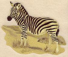 Embroidered Sweatshirt - Sepia Zebra E4295 Sizes S - Xxl