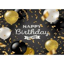 Happy Birthday Background Art Cloth Wall Studio Backdrop Photography Prop Decor