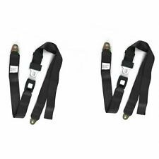 "Jeep Cj Cj5 Cj7 Yj Wrangler 76 to 95 Rear Seat Lap Safety Belt 60"" Pair Belt1X2"