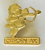 Citroen AX Cupid Car Maker Gold Style Advertising Pin Badge Vintage Rare (C2)