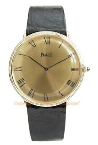Rare Vintage PIAGET Extra-Flat 18k Yellow Gold Manual wound Watch Box/Booklets