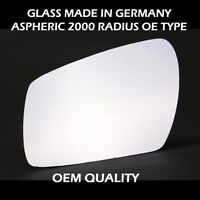 Car Door Wing Mirror Glass For Ford C-Max, Left Hand Side, Fits ( 2007 to 2009 )