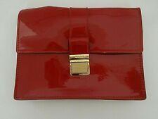 Miu Miu small red leather clutch