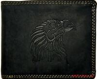 Hochwertige Geldbörse Geldbeutel Portemonnaie Büffel Leder Adler Wild