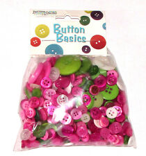 Buttons Galore Contemporary Christmas Button Pack BCB153 Pink Green Holiday