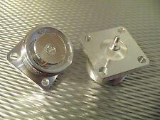 (2) Bird 43 Thruline Wattmeter QC Connectors 4240-344 DIN Female  Military Specs