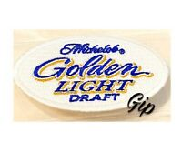 """New Michelob Golden Light Draft Beer Iron On Patch Mich Golden 3"""" White Patch"""