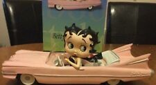 Extremely Rare! Betty Boop Riding Her Pink Limo Car Figurine LE of 2000 Statue
