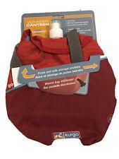 NEW Kurgo Voyager Dog Water Canteen Holds 32 oz - Waste Bag Dispenser