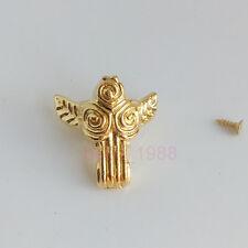 4pcs Golden Jewelry Wood Case Box Album Angel Box Angle Protector Corner Bracket