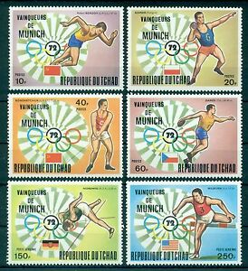 CHAD *1972 * compl.set 6 stamps MNH** Olympic Games - Munich - Mi.No 620-625