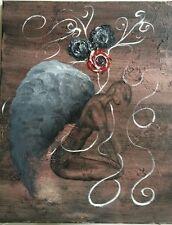 Laced Emotions, Original, 16x20x1, Acrylic, Surrealism, signed
