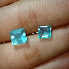 Natural Green Fluorite Square 5.5 Cts Fancy Faceted  Gemstone Good Quality