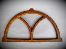 Stallfenster Eisenguss halbrund rostig  D.59x33cm  Vintage antik Wand Deko