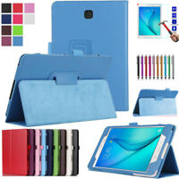 Leather Tablet Stand Flip Cover Case For Samsung Galaxy Tab E 9.6 T560 / T561