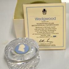 Wedgwood Glass Bicentennial Paperweight-Limited Edition of 340-this is #313