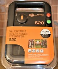 Gallagher S20 Solar Fence Charger 40-Acre 0.20-Joules 6V #G341424 - NEW