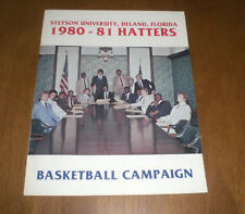 1980-81 STETSON UNIVERSITY HATTERS BASKETBALL MEDIA GUIDE