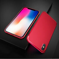 For Apple iPhone X Shockproof Strong Slim Silicone Case TPU Cover Shell in Red