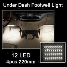 White 12LED Interior Kit Glow Under Dash Foot Well Seats Inside Light For VW