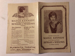 Madge Kennedy in Beware of Widows – Plymouth Theatre Boston - 2 Weeks – 1925