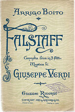 FALSTAFF - G. VERDI # LIBRETTO D'OPERA - A. Boito