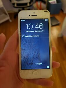 Apple iPhone 5 - 16GB - White & Silver