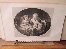 Vintage Print,MUTUAL IMPROVEMENT,Ladies Repository,c1857