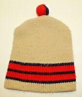 Vintage Wigwam Mills Wintuk Orlon Acrylic Knit Winter Beanie Pom-Pom Hat Adult