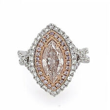 Big Fine Engagement Ring 2.34ct Natural Very Light Pink Fancy Color GIA Marquise