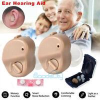 USA Invisible Mini In Ear Digital Hearing Aid Sound Voice Amplifier Enhancer Ear