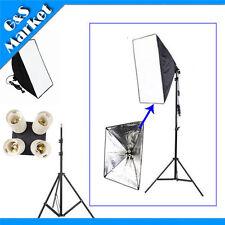 Lighting Softbox 50*70cm+ 4in1 E27 Socket Lamp Head European+195cm light stand