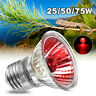 E27 25/50/75W Heat Emitter Lamp Bulb Red Light for Pet Reptile Brooder