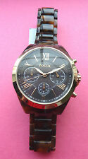 FOSSIL WRIST WATCH WITH TIN/WOMENS/BQ3120/TORTOISE/BROWN/GOLD/RESIN/NWT