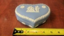 Wedgwood Blue Heart Shaped Candy Dish With Lid Good Condition Free Shipping!