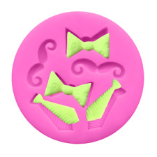 Tiny Bow Tie Mustache Silicone Mold Mould for cake Icing  M233