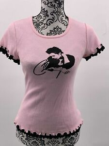 CLAY AIKEN Tour Booklet SIGNED Aikens Mom + Women's Short Sleeve Top Pink XL NEW