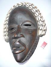 Alte Afrikanische Holz Maske mit Muscheln