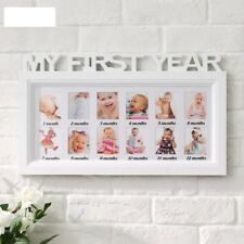 Baby Photo Frame First Year Memorial Frame 12 Pcs Set White Frame