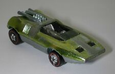 Redline Hotwheels Lime Yellow 1970 Peeping Bomb oc11996