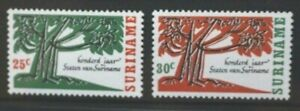 SURINAME 1966 Centenary of Parliament. Set of 2. Mint Never Hinged. SG594/595.