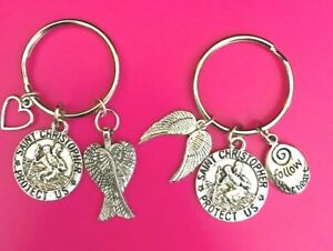 St Christopher/Guardian Angel Wings Keyrings ~ **ONLY £3.50** ~ Free UK Post