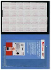 Amtliches ATM-Set VENDING MACHINE POSTAGE LABELS 24 St. + SST Stockholmia 1986