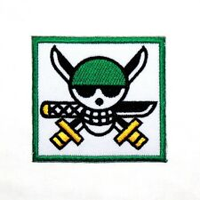 ONE PIECE Roronoa Zolo Pirates Skull Flag Symbol Anime Comic Shirt Iron on Patch