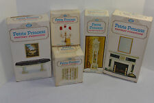 5 Pieces Ideal Petite Princess Furniture In Box! Hrarthplace/Clock/Chest/T able+